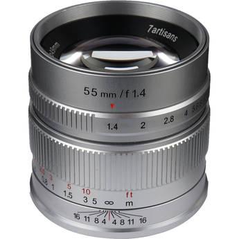 7artisans Photoelectric 55mm f/1.4 Lens for Sony E (Silver)