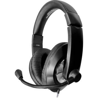 HamiltonBuhl Smart-Trek Deluxe Stereo Headset with Volume Control and 3.5mm TRRS Plug