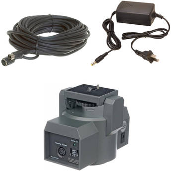 Bescor Motorized Pan & Tilt Head Kit with Remote Extension & AC Adapter