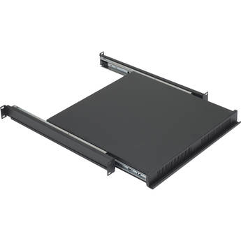 Lowell Manufacturing RSD-116 Reversible Sliding 1 RU Rack Shelf/Drawer (Black)