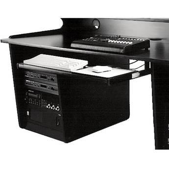 Omnirax Computer Keyboard / Mouse Shelf (Black Melamine)