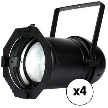 American DJ PAR Z100 5K - White LED Stage PAR Can 4-Pack (5700K, Black)