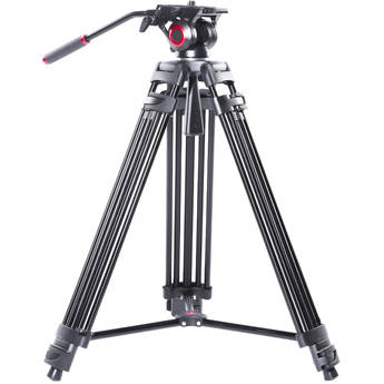 miliboo MTT601A Professional Aluminum Tripod and Fluid Head with Mid-Level Spreader