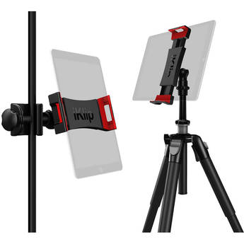 IK Multimedia iKlip 3 Deluxe Universal Tripod Mount and Mic Stand Support Bundle for Tablets