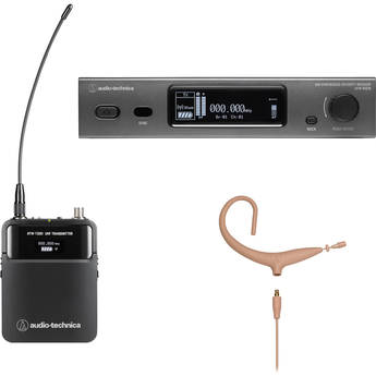 Audio-Technica ATW-3211/893xTH 3000 Series Wireless Omni MicroEarset Microphone System (Beige, EE1: 530 to 590 MHz)