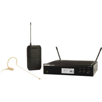 Shure BLX14R/MX53 Rackmount Wireless Omni Earset Microphone System (H10: 542 to 572 MHz)