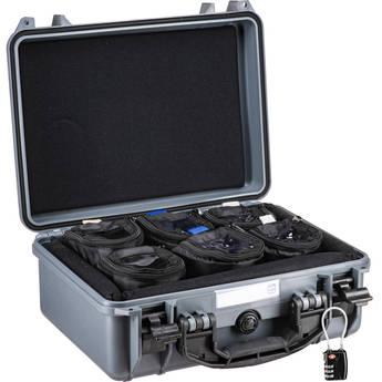 "Porta Brace Hard Case with Six 4"" Lens Cups (Gray)"