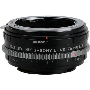 FotodioX Vizelex Cine ND Throttle Lens Mount Adapter for Nikon F-Mount, G-Type Lens to Sony E-Mount Camera