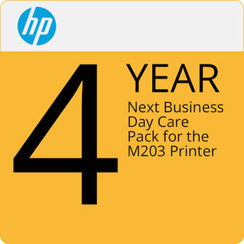 HP 4-Year Next Business Day Care Pack for M203dw Laser Printer