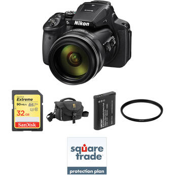Nikon COOLPIX P900 Digital Camera Deluxe Kit B&H Photo Video