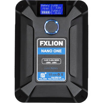 Fxlion NANO ONE 50Wh 14.8V Ultra-Compact V-Mount Battery