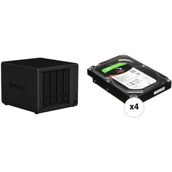 Synology DiskStation 16TB DS418 NAS Enclosure Kit with Seagate NAS Drives (4 x 4TB)