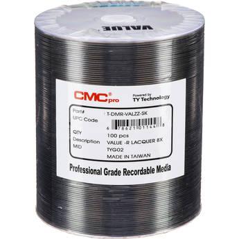 CMC Pro DVD-R 4.7GB 8x Value Shiny Silver Lacquer Discs (100-Pack)