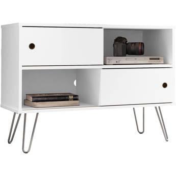"""Manhattan Comfort Baxter 35.43"""" TV Stand (White)"""