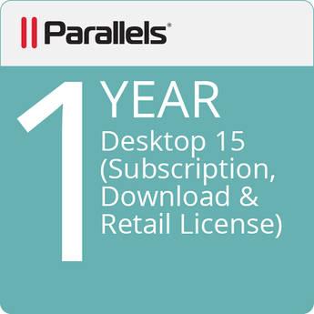 Parallels Desktop 15 (1-Year Subscription, Download, Retail License)