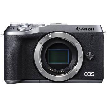 Canon EOS M6 Mark II Mirrorless Digital Camera (Silver, Body Only)