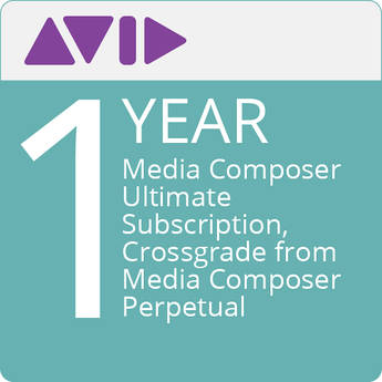 Avid Media Composer Ultimate (1-Year Subscription, Crossgrade from Media Composer Perpetual, Download)