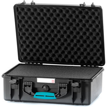 HPRC 2500F HPRC Hard Case with Foam (Black with Blue Handle)