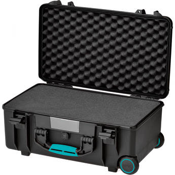HPRC 2550F HPRC Wheeled Hard Case with Foam (Black with Blue Handle)