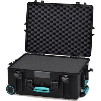 HPRC 2600WF HPRC Hard Case with Foam (Black with Blue Handle)