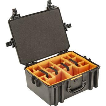 Pelican Vault V550 Standard Equipment Case with Lid Foam and Dividers (Black)