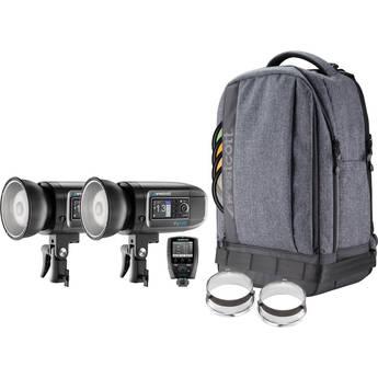 Westcott FJ400 400Ws Strobe with AC/DC Battery 2-Light Backpack Kit