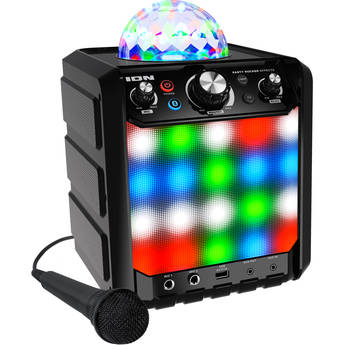 ION Audio Party Rocker Effects Bluetooth Speaker with Light Show and Microphone (Black)
