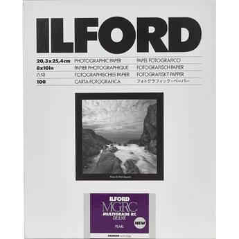 "Ilford MULTIGRADE RC Deluxe Paper (Pearl, 8 x 10"", 100 Sheets)"