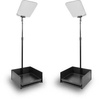 """Prompter People StagePro 19"""" High-Bright Presidential Teleprompter Pair"""
