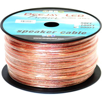 DeeJay LED TBH18AWG500 2-Conductor 18-Gauge Stranded Speaker Cable (500')
