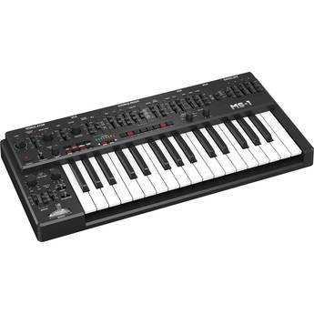 Behringer MS-1-BK Analog Synthesizer with Live Performance Kit (Black)
