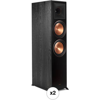 Klipsch Reference Premiere RP-8000F 2-Way Floorstanding Speaker Pair Kit (Ebony)