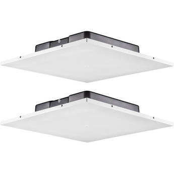 JBL LCT 81C/T Low-Profile Lay-In 2 x 2' Ceiling Tile Loudspeaker (2-Pack, White)