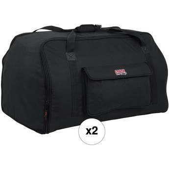 """Gator 15"""" Speaker Tote Bag Kit (2-Pack)"""