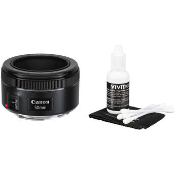 Canon EF 50mm f/1.8 STM Lens with Cleaning Kit