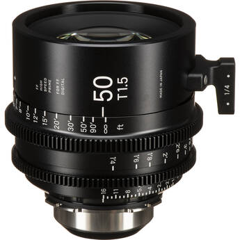 Sigma 50mm T1.5 FF High-Speed Art Prime 2 Lens with /i Technology (PL Mount, Feet)