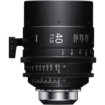 Sigma 40mm T1.5 FF High-Speed Art Prime 2 Lens with /i Technology (PL Mount, Feet)