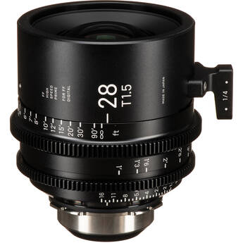 Sigma 28mm T1.5 FF High-Speed Art Prime 2 Lens with /i Technology (PL Mount, Feet)