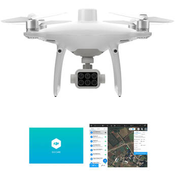 DJI P4 Multispectral Agricultural Drone with Enterprise Shield Basic & GS Pro