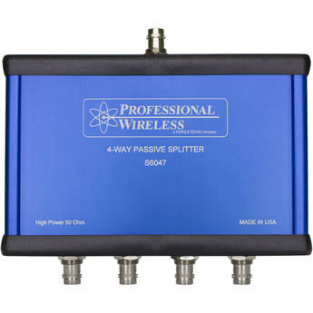 Professional Wireless Systems 4-Way Passive Splitter RF Signal Splitter/Combiner (350 to 830 MHz)