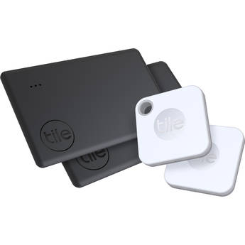 Tile Mate and Slim Bluetooth Tracker Combo (4-Pack)