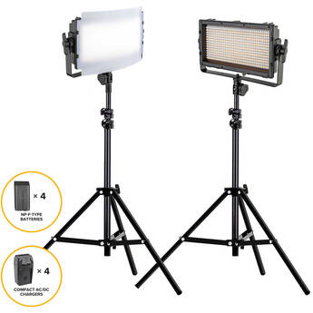 Genaray Spectro LED Essential 500IIB Bi-Color LED Light Bundle