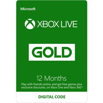 Microsoft Xbox Live Gold (12-Month, Download)