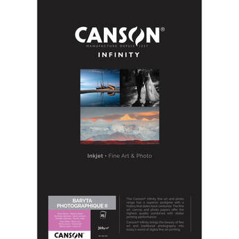"Canson Infinity Baryta Photographique II (8.5 x 11"", 25 Sheets)"