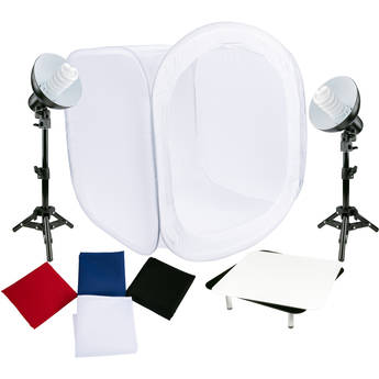 Studio Essentials Tabletop Fluorescent 2-Light Product Photography Kit