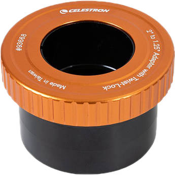 """Celestron 2"""" to 1.25"""" Adapter with Twist-Lock"""