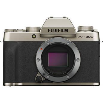 FUJIFILM X-T200 Mirrorless Digital Camera (Body Only, Champagne Gold)