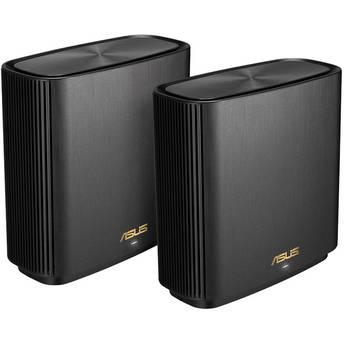 ASUS ZenWiFi XT8 AX6600 Wireless Tri-Band Mesh Wi-Fi System (2-Pack, Charcoal)