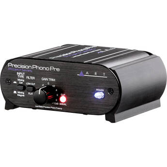 Art DJ Pre II Turntable Phono Preamplifier with Free Hosa RCA Male to RCA Male 3 Foot Cables