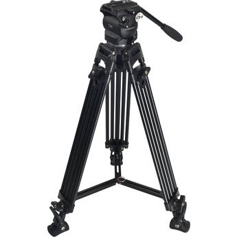 SEEDER T40 Fluid Head with Two-Stage Aluminum Tripod System with Mid-Level Spreader